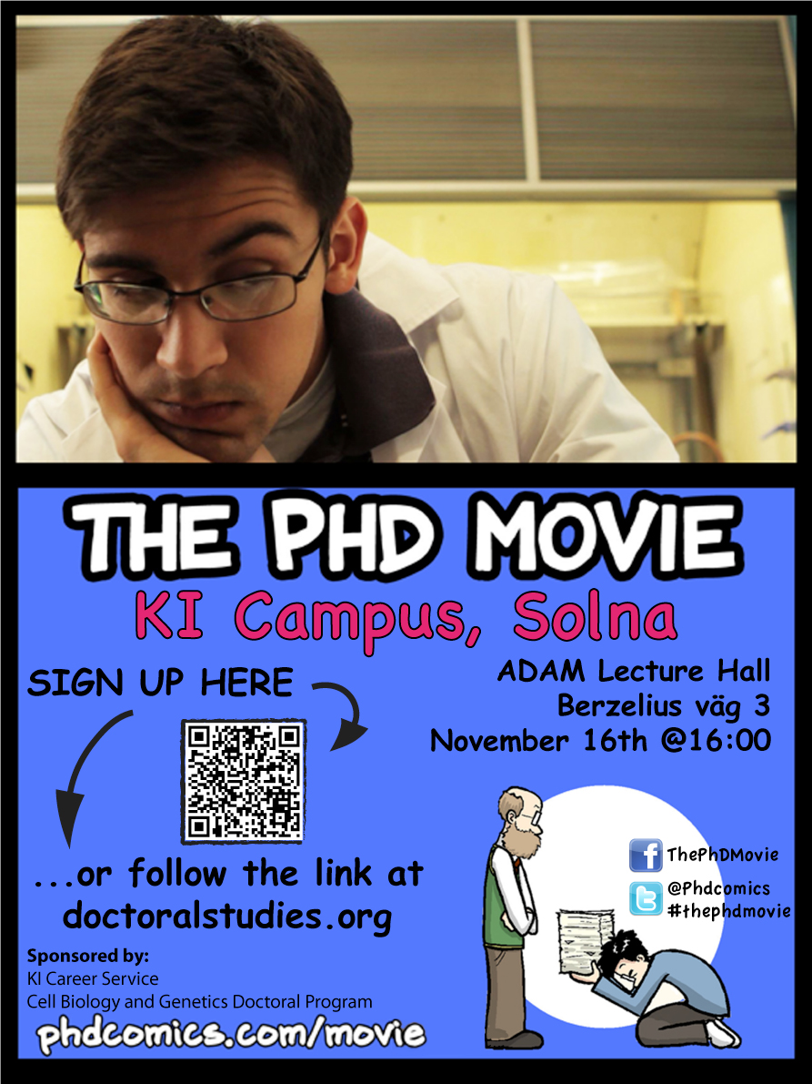 The PhD Movie event poster cc Riccardo Guidi